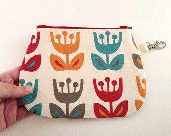 Zip Wallet Pouch - Tulips