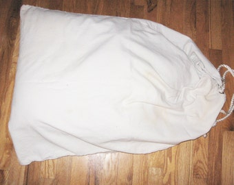 Large Canvas Vintage Laundry Bag