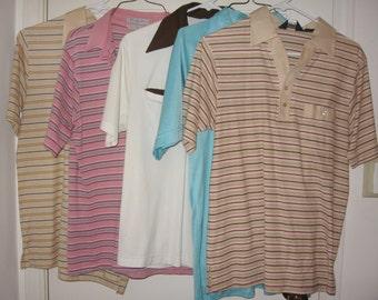 Lot of 5 Vintage Polo Shirts Emo Medium Dior Kmart 2 Arrow Palmland