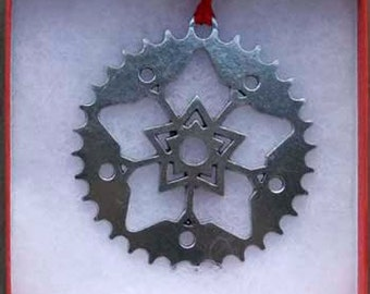 Bicycle Ornament - Sprocket/Snowflake