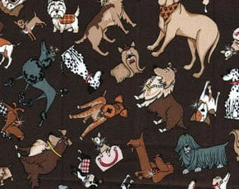 Pampered pets privileged pups fabric