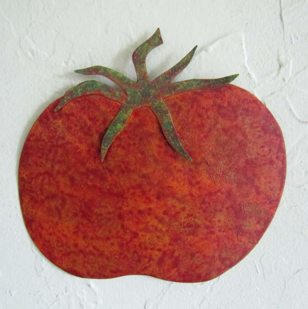 Red Kitchen Wall Decor Tomato Kitchen Decor Etsy