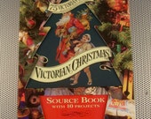 Vintage 1990 Unused Victorian Christmas Source Book 10 Projects Crafts Decor with 75 Scraps 4 Cards
