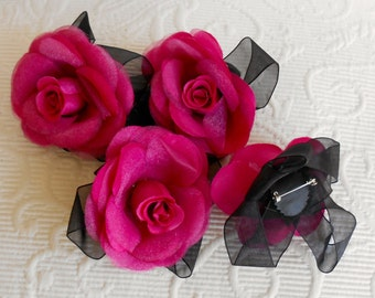 Fuschia Pink Flower Corsages