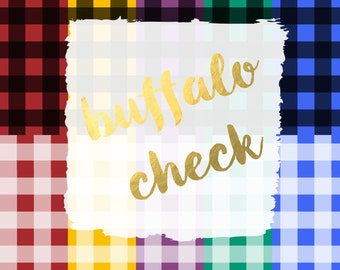 Buffalo Check Digital Paper Pack (Instant Download)