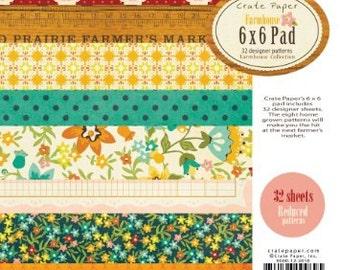 Crate Paper 6x6 Paper Pad - Farmhouse