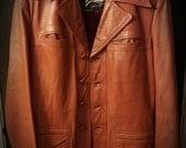 70's men's leather jacket: vintage, retro, disco