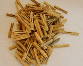 Vintage Lot of Over 2 Pounds of Old Wood Clothespins Clothespegs Wooden Laundry Home Decor