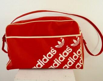 Vintage ADIDAS Carry On BAG smaller size gym bag 1970's trefoil