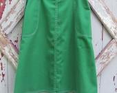 Plain Jane - vintage 70s green wrap skirt