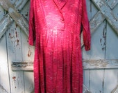 Vintage 1960s happy housewife dress  L XL