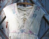 Vintage 70's hippie peasant dress XX S M