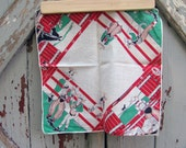 1950s Cowboys and Girls hankie