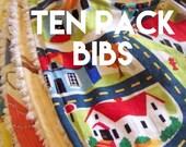 Ten Pack Bibs