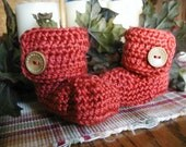 New Fall Colors Crochet Baby Button Boots Booties 0-3 months