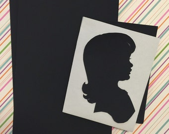"25 Sheets of Silhouette Paper 5x8"" inches"