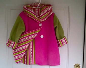 Child's Pink Car Coat 2 year C47/15