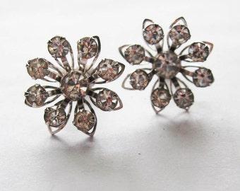 Vintage BN Rhinestone Earrings