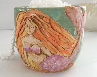 Mermaid Yarn Bowl for Knitting and Crochet