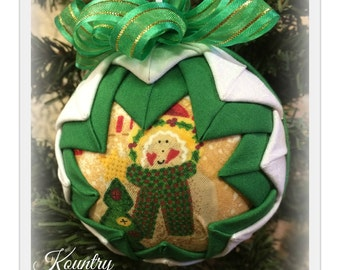 HANDMADE QUILTED Ornament/Angel ORNAMENT Made from Fabric/  (Ready to Ship)