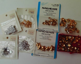 Destash Assorted Nail Heads Studs Decorative Findings Stars Round