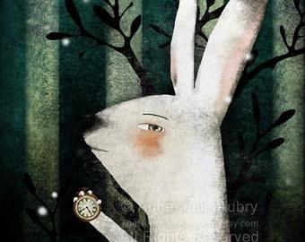 The White Rabbit (Alice in Wonderland) - Deluxe Edition Print