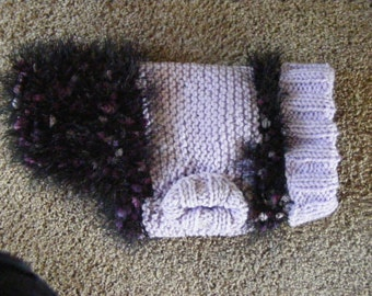 Knitted Fancy Fur Dog Sweater