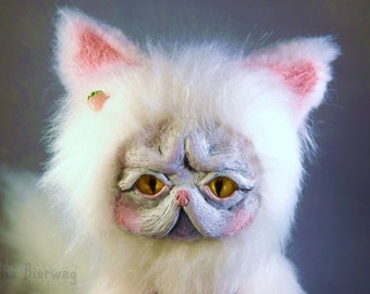 Taffy the Persian Cat - Whiteleaf Village Jointed Art Doll