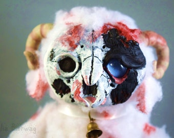 Clover the Undead Sheep - Whiteleaf Village Jointed Art Doll