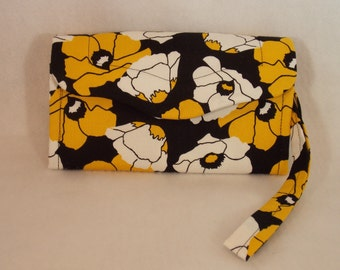 Necessary Clutch Wallet-Golden Poppy Wallet-Smart Phone Wallet-Accordion Style Clutch Wallet-Multi-Purpose Wallet