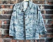 U.S. Air Force Woman's Utility Jacket Coat, Green Camo with Patch - Name Zurawski, Women Ladies Military Uniform