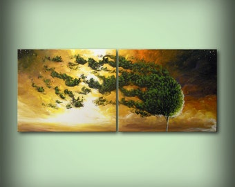 art abstract painting dr. seuss tree canvas wall art xxl canvas painting Original Painting 22 x 56