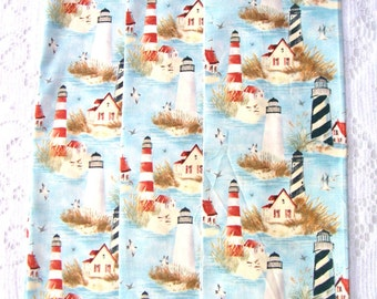 Fabric Scraps - Fabric Remnants - Scrap Fabric - Quilting Fabric - Quilting Supplies - Lighthouses