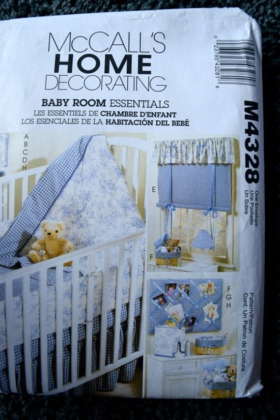 Baby Bedroom Essentials: McCalls Home Decorating M4328 Baby Room Essentials From