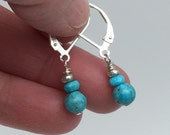 Sweet Little Turquoise Earrings - Natural Turquoise Earrings - Spring Earrings - Mothers Day Earrings - Napa Valley Earrings