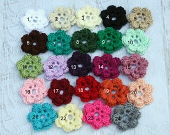 Crochet Flowers, Extra Crochet Flowers for Interchangeable Hat Set, Add On Flowers, Craft Flowers, MADE TO ORDER