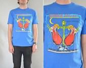 vintage men's '80s royal blue BOURBON st. NEW ORLEANS t-shirt. size m.