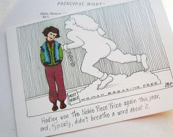 "1980's "" Most Noble "" Cartoonist's Postcard * Political Humor *"