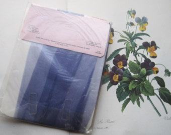 1980's Round The Clock Purple Pantyhose * Vintage Hosiery * Pantyhose