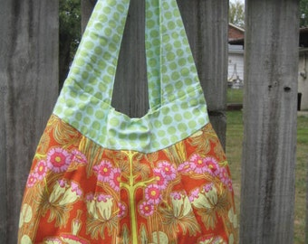 Huge Green and Orange Amy Butler Bag