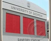 UGA Sanford Stadium, Georgia,Landmark Marble Stone Coaster. Mix and Match With My Other Coasters To Make A Set..