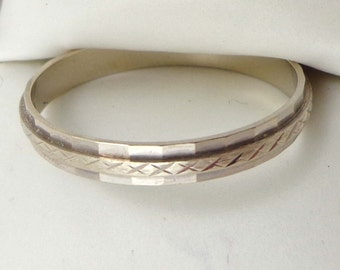 Men's Wedding Band 14k Columbia White Gold Size 14.25 Ring Textured 712