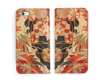 Leather iPhone 7 case, Galaxy S6 Case, iPhone 6s Case, iPhone 6s Plus Case, iPhone 5/5s Case - Kimono Collection No. 1 (Exclusive Range)