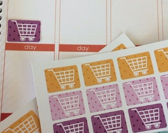 Huge Sale Planner Stickers 32 Grocery Carts Shopping Cart