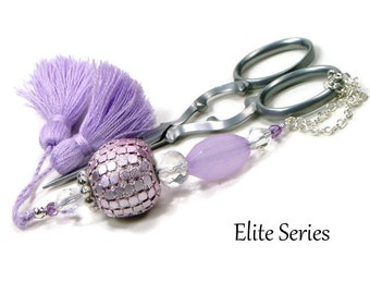 Lavender Scissor Fob Beaded Scissor Keeper Scissor Minder Elite Series Needlepoint Quilting Sewing Cross Stitch Crafts