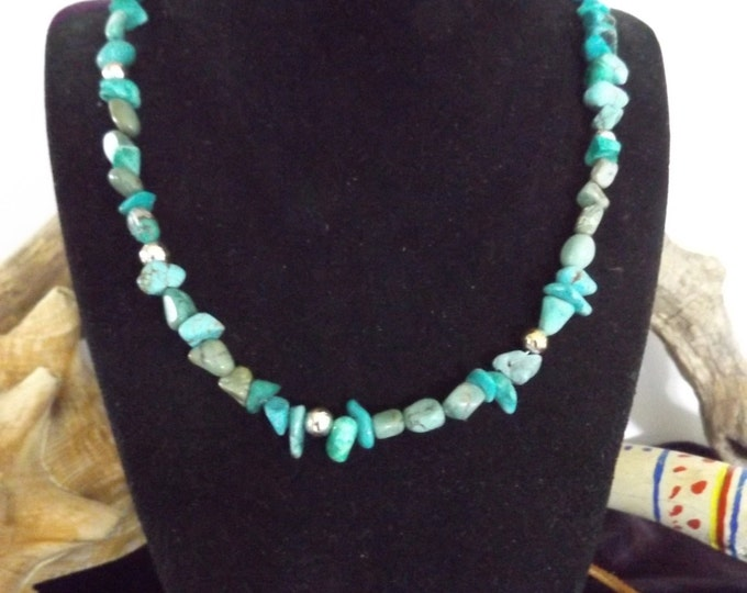 Turquoise Necklace, Healing Jewelry, Spiritual Healing Jewelry, Genuine Turquoise, Protection