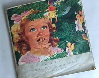 1943 Vintage Child's Scrapbook