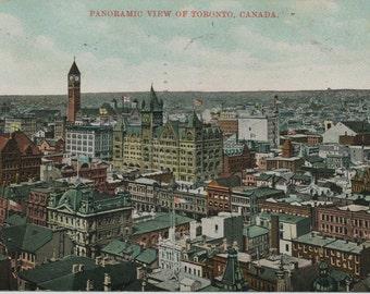 Vintage Postcard of Toronto - 1910 Panoramic View - Old Toronto Postcard - Memorabilia