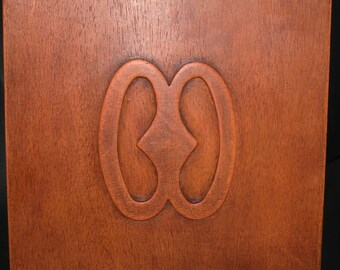 African Adinkra Symbol of Hope God Is In The Heavens Carved Wood Wall Plaque Ghana