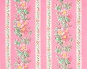 STORE CLOSING SALE - Snapshot Blooming Border, Blush Pink Rose, Verna Mosquera, Free Spirit, 100% Cotton Quilt Fabric, Quilting Fabric